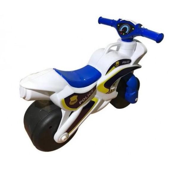 Detské odrážadlo motorka Inlea4Fun POLICE - biele/modré
