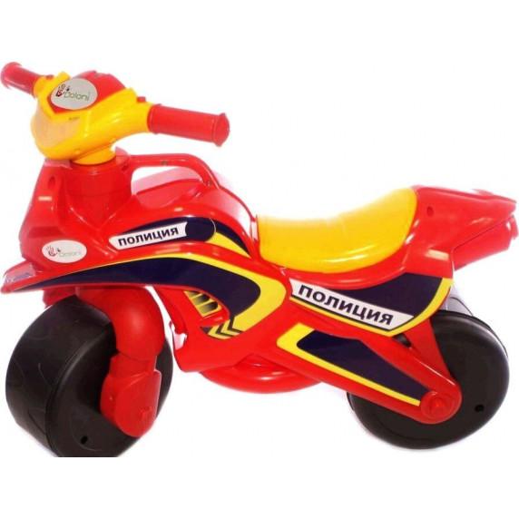 Detské odrážadlo motorka Inlea4Fun Inlea4Fun POLICE - červené/žlté