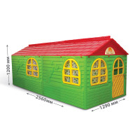 Záhradný domček 256x129x120 cm Inlea4Fun DANUT - zelený