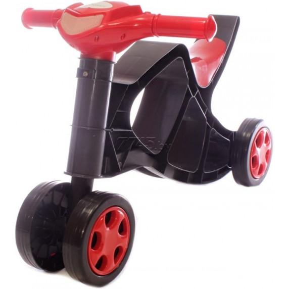 Detské odrážadlo motorka Inlea4Fun - čierne/červené