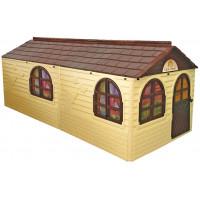 Záhradný domček 256x129x120 cm Inlea4Fun DANUT - béžový