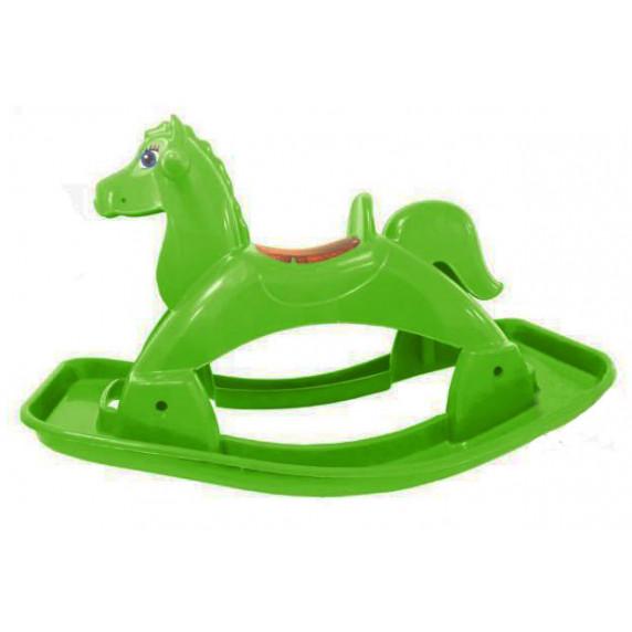 Hojdací koník plastový Inlea4Fun - zelený