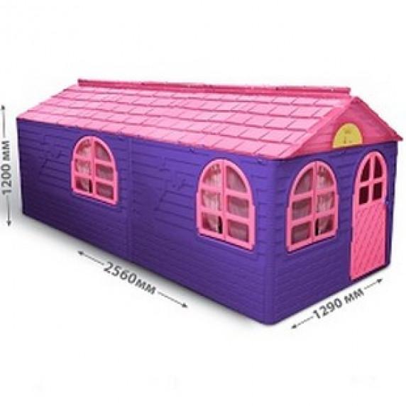 Záhradný domček 256x129x120 cm Inlea4Fun DANUT - Fialový