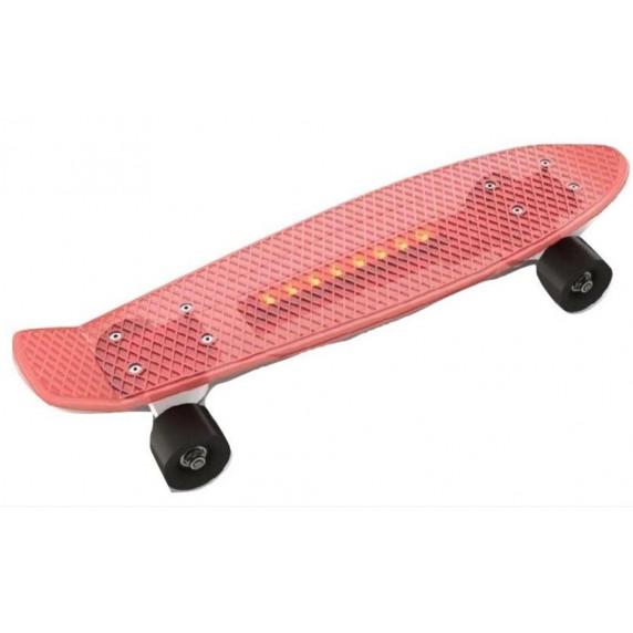 Skateboard s LED svetlom Inlea4Fun - červený