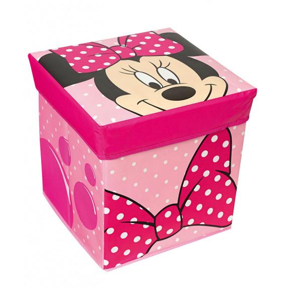 Detská taburetka s úložným priestorom Minnie Mouse FUN HOUSE 712175