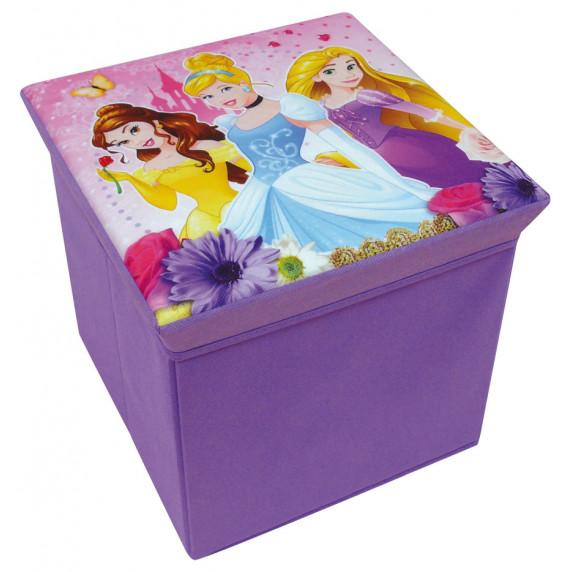 Detská taburetka s úložným priestorom Princess FUN HOUSE 712374