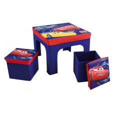 FUN HOUSE Detský stolík s dvomi taburetkami a úložným priestorom Cars 712641 Preview