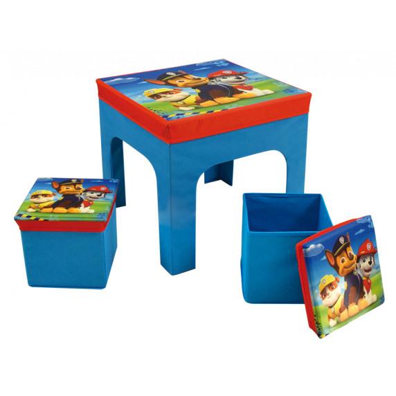 FUN HOUSE Detský stolík s dvomi taburetkami a úložným priestorom Tlapková Patrola 712649