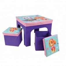 Detský stolík s dvomi taburetkami a úložným priestorom Tlapková Patrola FUN HOUSE 712745 Preview