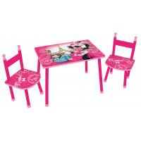 FUN HOUSE Detský stôl so stoličkami Minnie Mouse 712885