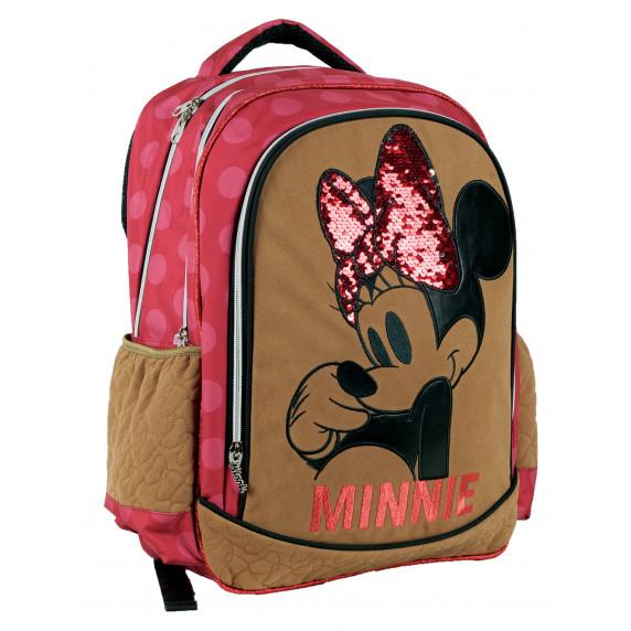 G.I.M. MINNIE Ružový/hnedý školský set 2020 - školská taška + peračník