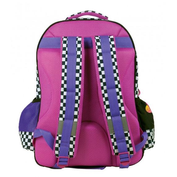 G.I.M. MINNIE Čierny kockovaný školský set 2020 - školská taška + peračník
