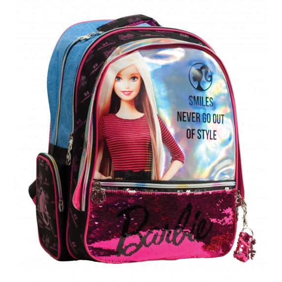 G.I.M. školský set Barbie 2020 čierno/modrý - batoh + peračník s príslušenstvom
