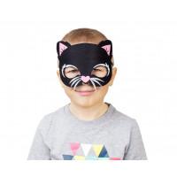GoDan Maska mačiatka pre deti - čierna 18,5 x 14 cm