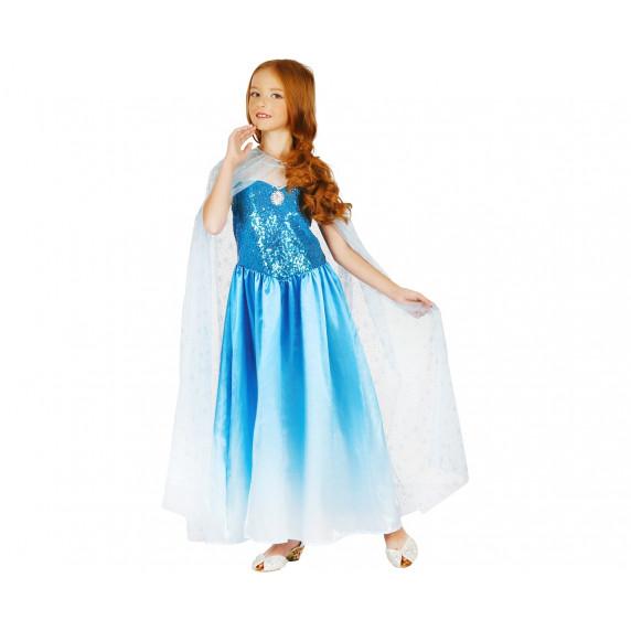 GoDan Detský kostým Modrá kráska 120/130 cm
