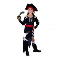 GoDan Kostým pre deti -  Pirát s lepkou, veľkosť 130/140 cm