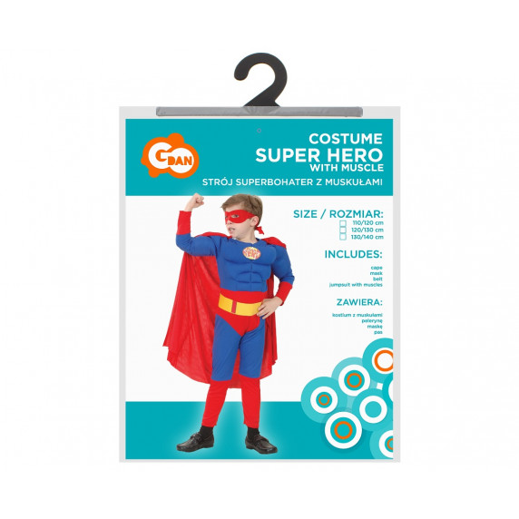 GoDan Detský kostým Super Hero 110/120 cm