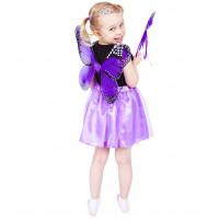 GoDan Detský kostým Motýlia víla s krídlami - fialový
