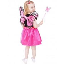 GoDan Detský kostým Motýlia víla s krídlami - ružový Preview