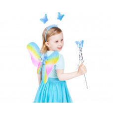 GoDan Detský kostým Motýlia víla s krídlami - dúhový Preview