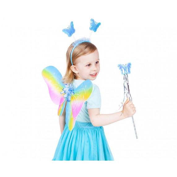 GoDan Detský kostým Motýlia víla s krídlami - dúhový