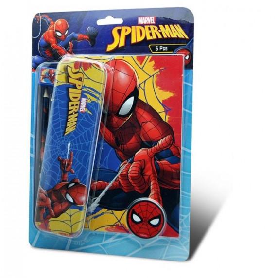 Kids Licensing Sada písacích potrieb v kovovom peračníku SPIDERMAN 5 ks