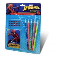 Kids Licensing Sada písacích potrieb s nálepkami SPIDERMAN 6 ks
