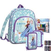 Kids Licensing školský set FROZEN - batoh + peračník s príslušenstvom + set na kreslenie
