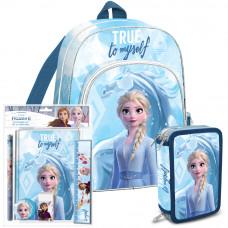 Školský set Kids Licensing Ľadové Kráľovstvo 2021 MODRÝ - batoh + zošit + peračník Preview