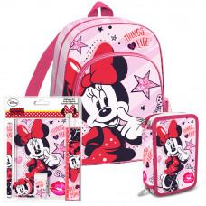 Školský set Kids Licensing Minnie Mouse 2021 ružový - batoh + zošit + peračník Preview