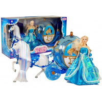 Princezná bábika s koňom a kočom Inlea4Fun ILLUSION STATE