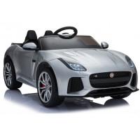 Elektrické autíčko Jaguar F-Type strieborné - lakované prevedenie