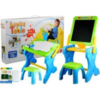Inlea4Fun LEARNING TABLE Multifunkčný skladací stôl 2v1 so stoličkou
