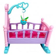 Inlea4Fun ROCKING BED Kolíska pre bábiky - ružová Preview
