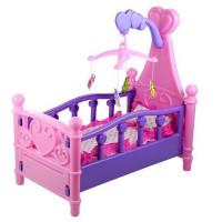 Inlea4Fun SWEET BED Postieľka pre bábiky - ružová