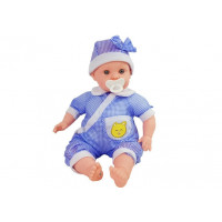 Detská bábika-bábätko 45 cm Inlea4Fun BABY KID - modrá
