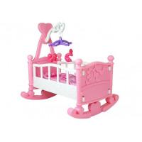 Kolíska pre bábiky BABY BED Inlea4Fun - ružová
