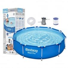 BESTWAY 56679 Steel Pro rodinný bazén 8 v 1, 305 x 76 cm + kartušová filtrácia Preview