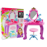Inlea4Fun detský toaletný stolík CROWN