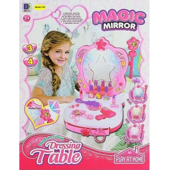 Inlea4Fun Magic Mirror Detský toaletný stolík v kufríku