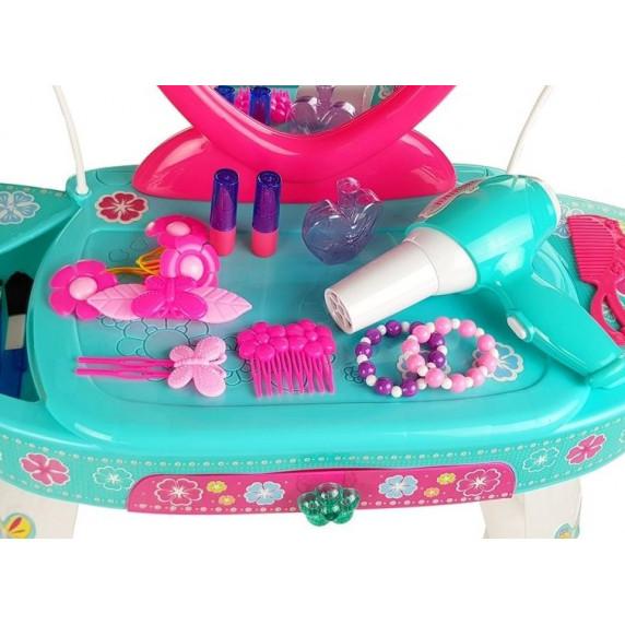 Detský toaletný stolík Inlea4Fun BEAUTY DRESSER HEART