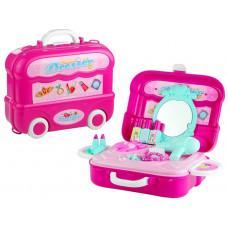 Inlea4Fun detský toaletný stolík v kufríku DRESSER Preview