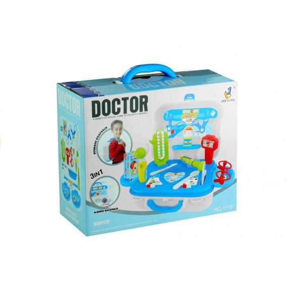 Inlea4Fun detský lekársky set v kufríku + 20 kusov príslušenstva