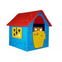 Záhradný domček Inlea4Fun My First Playhouse - modrý/červený