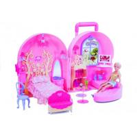 Inlea4Fun SWEET GIRL Detský rozkladací domček v kufríku