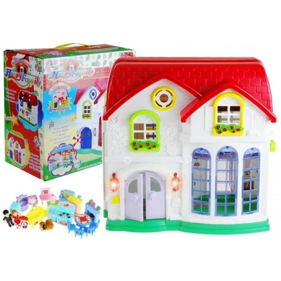 Detský rozkladací domček s nábytkom Inlea4Fun HAPPY FAMILY