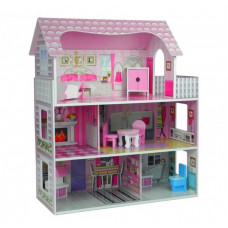 Inlea4Fun drevený domček pre bábiky s piatimi izbami STEFIE  Preview