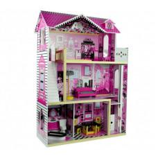 Inlea4Fun drevený domček pre bábiky s piatimi izbami VILLA Preview