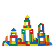 Inlea4Fun BUILDING BLOCK drevené farebné tvary 131 kusov Preview