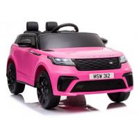Elektrické autíčko lakované RANGE ROVER - ružové